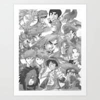 anime Art Prints featuring Anime by Hitmakerzpro