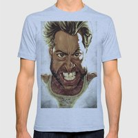 Wolverine Caricature Mens Fitted Tee Athletic Blue SMALL