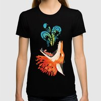 The Hunt Womens Fitted Tee Black SMALL