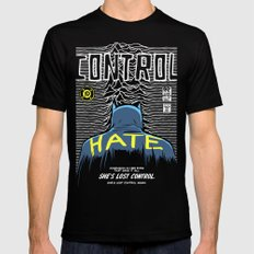 Post-Punk Bat: Control SMALL Mens Fitted Tee Black