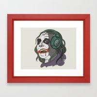 Joker Illustration Framed Art Print