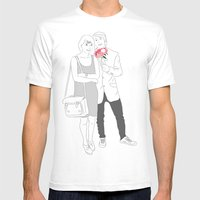 Couprel Mens Fitted Tee White SMALL