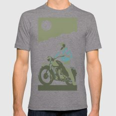 the great escape Mens Fitted Tee Tri-Grey SMALL