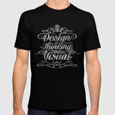 Design is.... Mens Fitted Tee Black SMALL