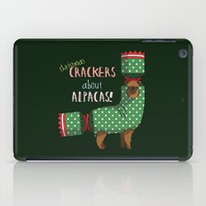 Christmas Crackers About Alpacas! iPad Case