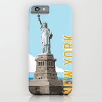 iPhone & iPod Case featuring New York Travel Poster by Michael Jon Watt