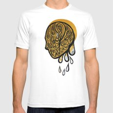 Drops fall SMALL White Mens Fitted Tee
