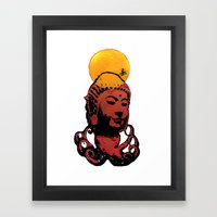 Buddha-octopus Framed Art Print