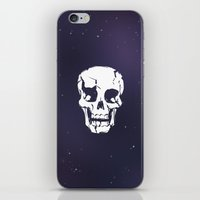 Cracked Up Skull in Space iPhone & iPod Skin
