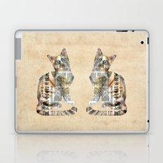 Cat Newspaper Collage Laptop & iPad Skin