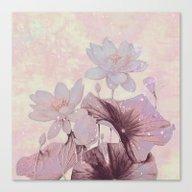 Pastel Waterlily Canvas Print