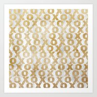Xoxo Gold Art Print