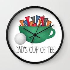 Dad's Cup Of Tee Wall Clock