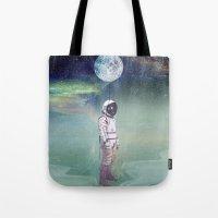 Moon Balloon Tote Bag