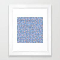 Peach Banana Peel On Pur… Framed Art Print