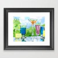 Light Reflection Color Framed Art Print