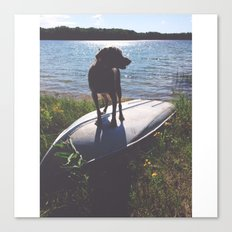 on a boat Canvas Print