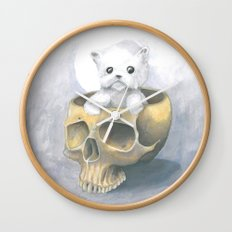 i ated all the brains Wall Clock