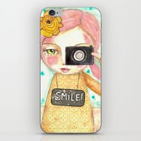 Smile ! Girl With Photo … iPhone & iPod Skin