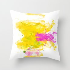 Sunny-Watercolor-Abstract V.3 Throw Pillow