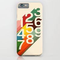 iPhone Cases featuring Retro Numbers by Budi Kwan