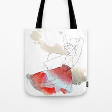 Dancing in the poppies Tote Bag