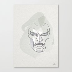 One Line Mask of Doom Canvas Print