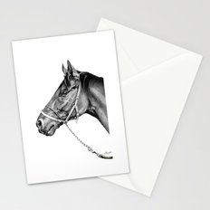 Sir Alfred - Racehorse : Graphite Stationery Cards