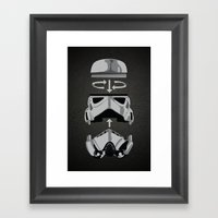 Construct-a-trooper. Framed Art Print