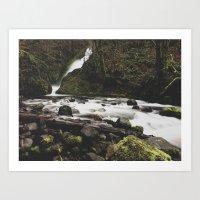 Lower Bridal falls Art Print