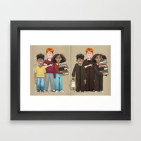 Dorky Kids Go To Private School Framed Art Print