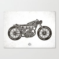 Horse Power by bmd design Canvas Print