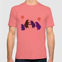A sleepy bear party Mens Fitted Tee Pomegranate SMALL