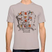 Japanese building Mens Fitted Tee Cinder SMALL