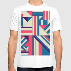 Geo1. Mens Fitted Tee White SMALL