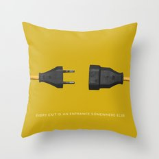every exit is an entrance Throw Pillow