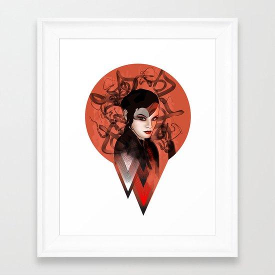 RED TRIANGLE Framed Art Print