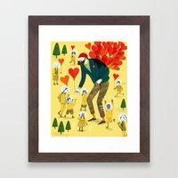 Love distributor Framed Art Print