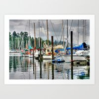 Vancouver Boat Harbor Art Print