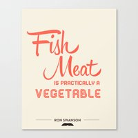 Fish Meat Canvas Print