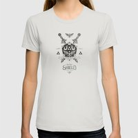 Legend Of Zelda Hylian S… Womens Fitted Tee Silver SMALL