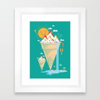 mystery island Framed Art Print