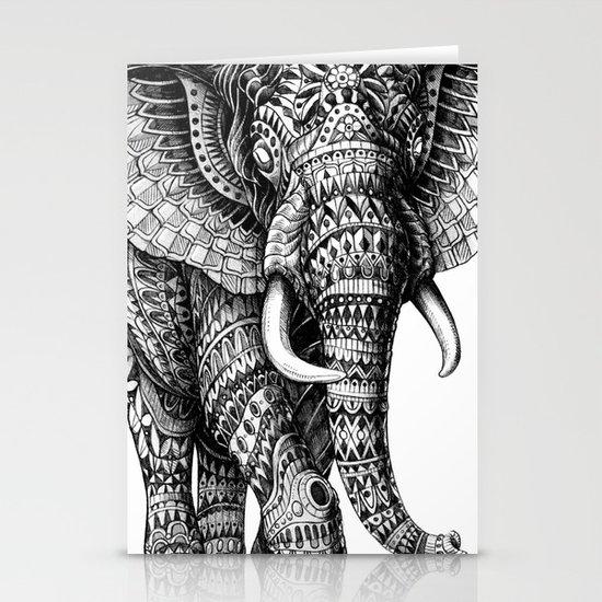 Ornate Elephant v.2 Stationery Card