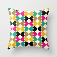 Bow Hearts #2 Throw Pillow