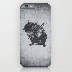 Angry street art mouse / hamster (baseball edit) iPhone 6 Slim Case