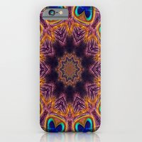 iPhone & iPod Case featuring Peacock Fan Star Abstract by Bel Menpes