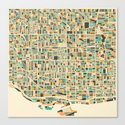 Toronto Map Canvas Print