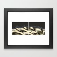 Minimal Waves Framed Art Print