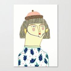 Women. fashion, fashion illustration, fashion print, fashion art, pattern, people,  Canvas Print