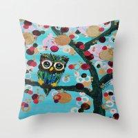 :: Gemmy Owl Loves Jewel… Throw Pillow